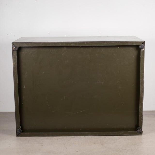 Industrial Army Green Factory Cabinet C.1940 For Sale - Image 9 of 10