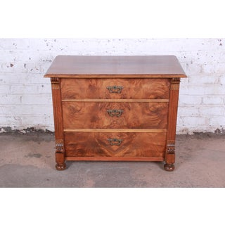 19th Century Continental Burled Walnut Three-Drawer Bachelor Chest Preview