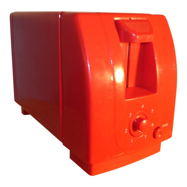 Mid-Century Red Toaster For Sale