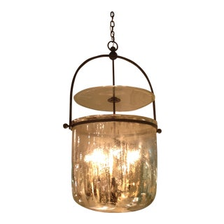 Visual Comfort - Lorford Smoke Bell Lantern in Aged Iron with Mercury Glass (4 Available)
