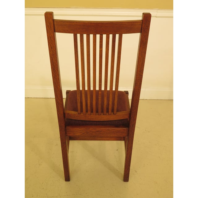 Stickley Stickley Mission Oak Dining Room Chairs - Set of 4 For Sale - Image 4 of 13