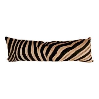 Forsyth Luxury King Zebra Hide Pillow For Sale