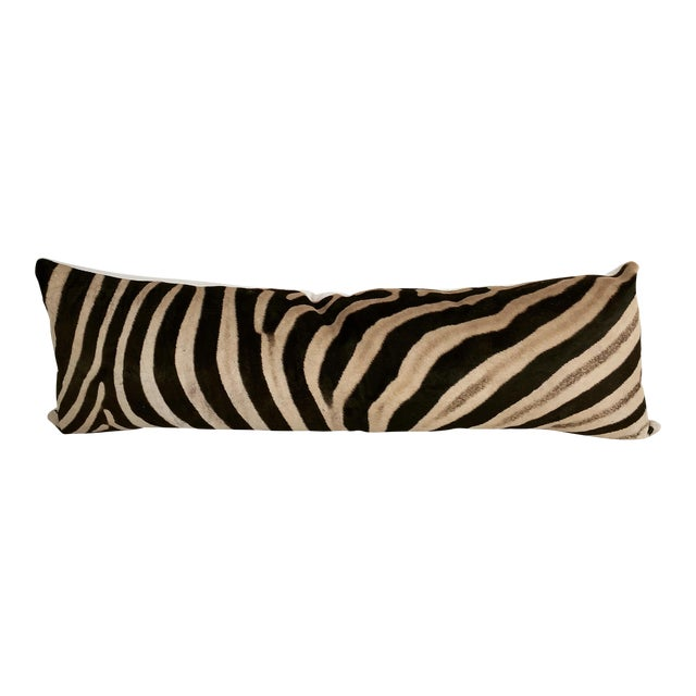 Forsyth Luxury King Zebra Hide Pillow For Sale