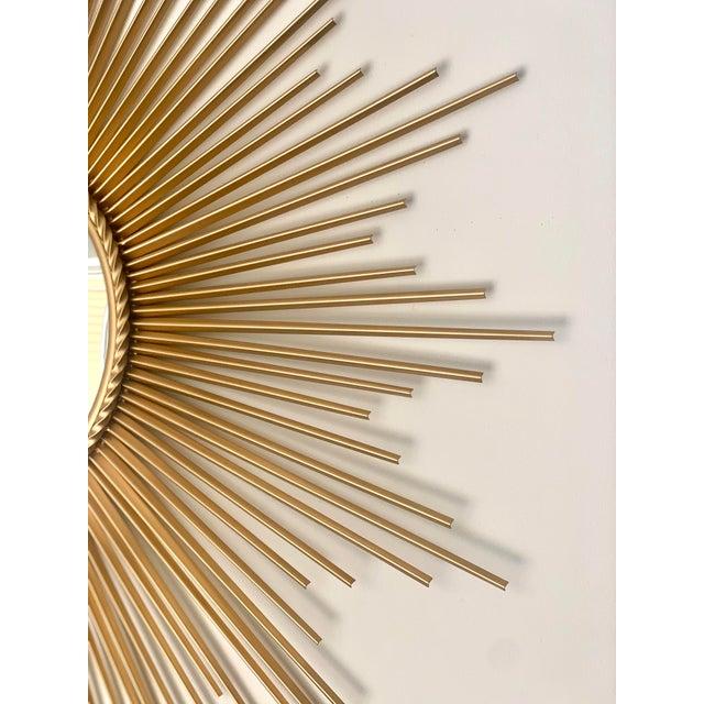 Mid 20th Century Mid-Century Modern Sunburst Convex Mirror For Sale - Image 5 of 7