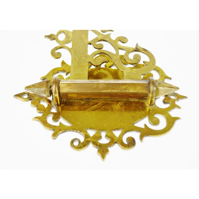 Vintage Solid Brass Swing Arm Wall Bracket Plant Hanger with ...