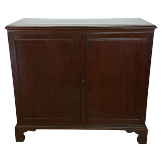 Early 19th C. English Mahogany Cabinet For Sale