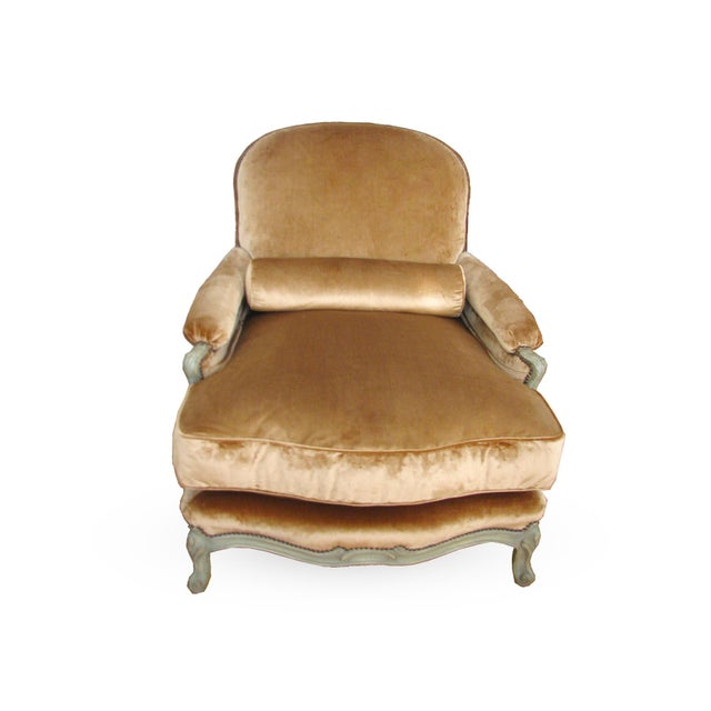 Louis XV Barroux Louis XV Style Bergere For Sale - Image 3 of 4