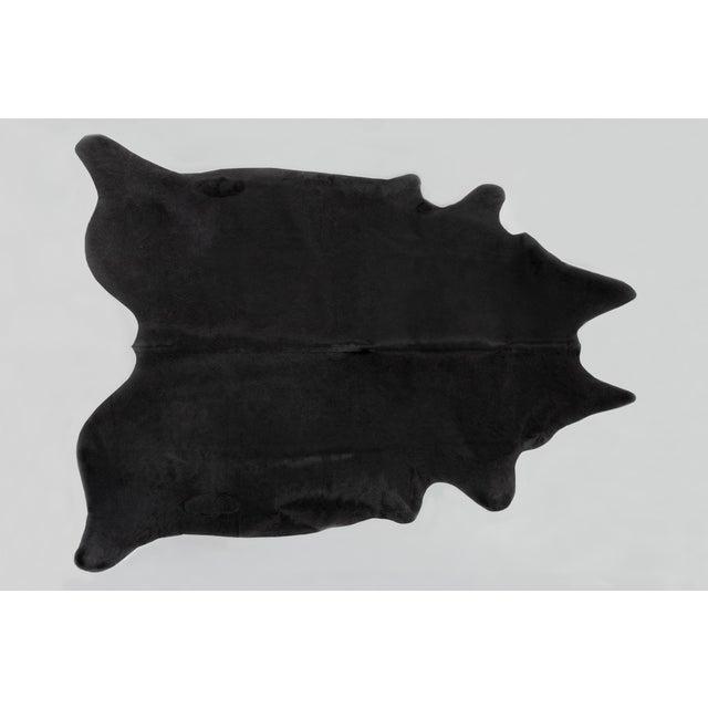 Contemporary Genuine Brazilian Cowhide, Black For Sale - Image 3 of 3