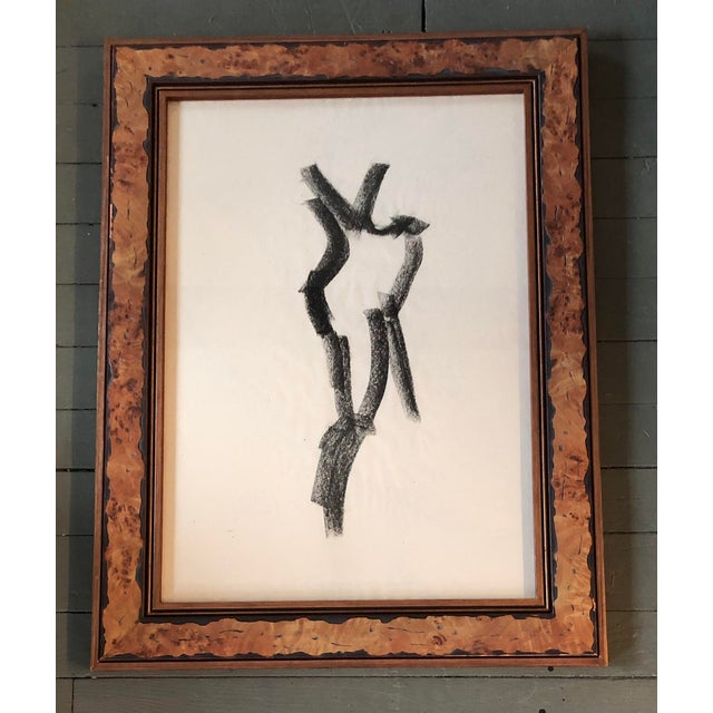 1970s Original Vintage Abstract Female Nude Charcoal Study For Sale - Image 5 of 5