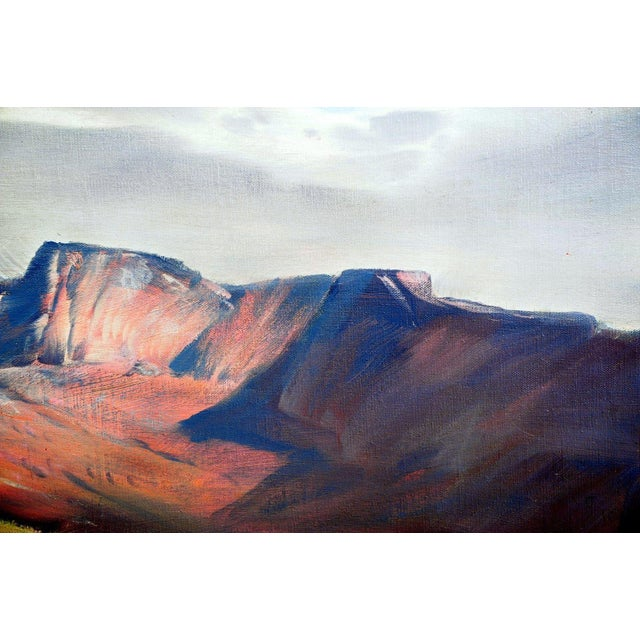 """Paul Lauritz """"Zion National Park"""" Oil Painting - Image 6 of 11"""