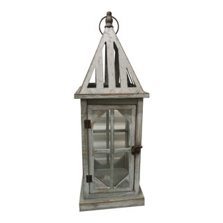Tall Coastal Weathered Lantern For Sale