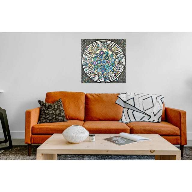 Abstract Natasha Mistry Contemporary Abstract Oil Painting For Sale - Image 3 of 7