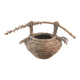 Organic Modern Samuel Yao Sculptural Handwoven Basket