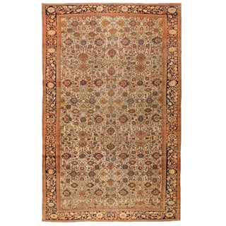 Antique Oversize Persian Malayer Sarouk Carpet For Sale