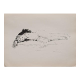 "1930s Vintage Figurative Black & White Lithograph ""Sleep"" by Alexander Brook"
