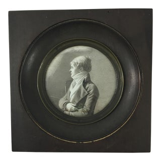Late 18th Century French Miniature Portrait of Man For Sale