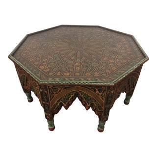 20th Century Moroccan Style Octagonal Coffee Table For Sale