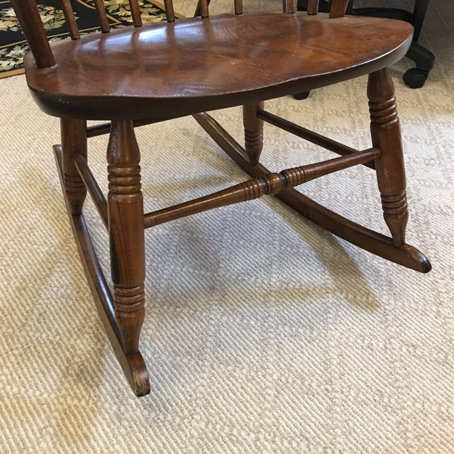 Wood Vintage S. Bent & Bros. Rocking Chair For Sale - Image 7 of 11
