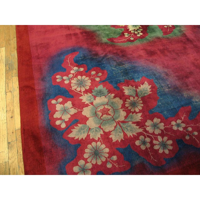 1930s Antique Chinese Art Deco Rug-10′ × 13′6″ For Sale - Image 4 of 5