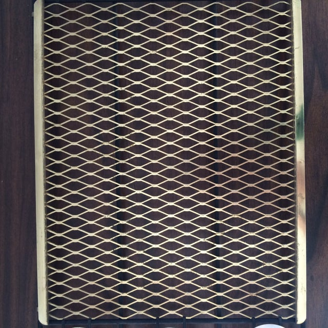 Mid-Century Metal 6-Glass Serving Tray - Image 8 of 11