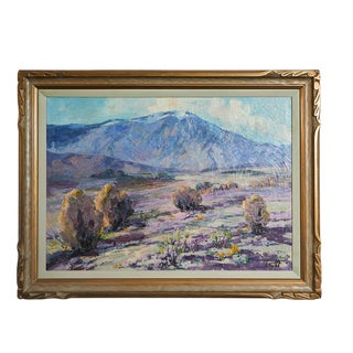 California Desert Landscape Painting by Florence Upson Young For Sale