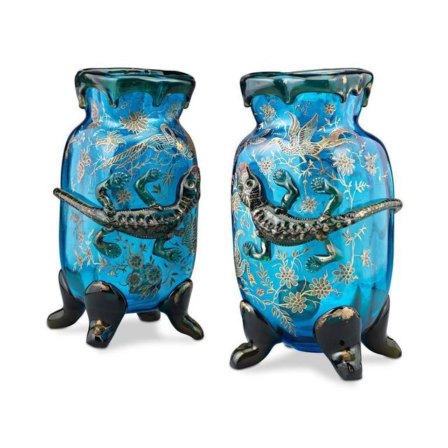 Salamander Art Glass Vases by Auguste Jean For Sale - Image 4 of 5