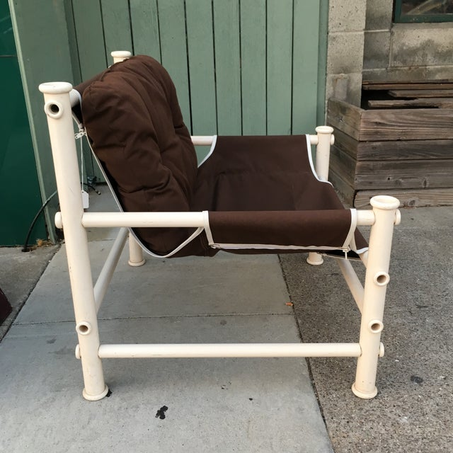 Vintage PVC Pipe Lounge Chair For Sale - Image 4 of 7