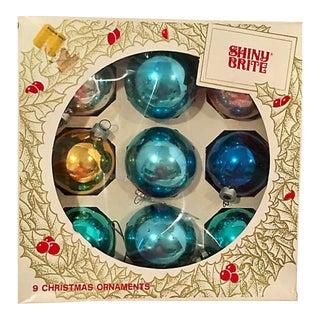 1960s Shiny Brite Balls S/9 Orig Box For Sale