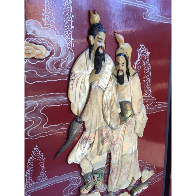 Vintage Chinoiserie Folding Screen - Image 7 of 10
