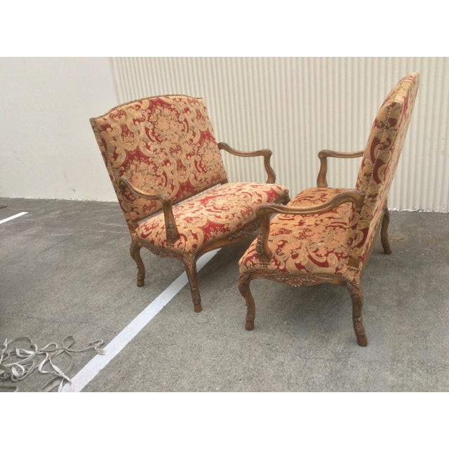 Yellow Tuscan Style Settees - a Pair For Sale - Image 8 of 13