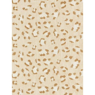 Scalamandre Broderie Leopard, Camel on Cream Fabric For Sale