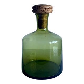 Vintage Green Decanter For Sale