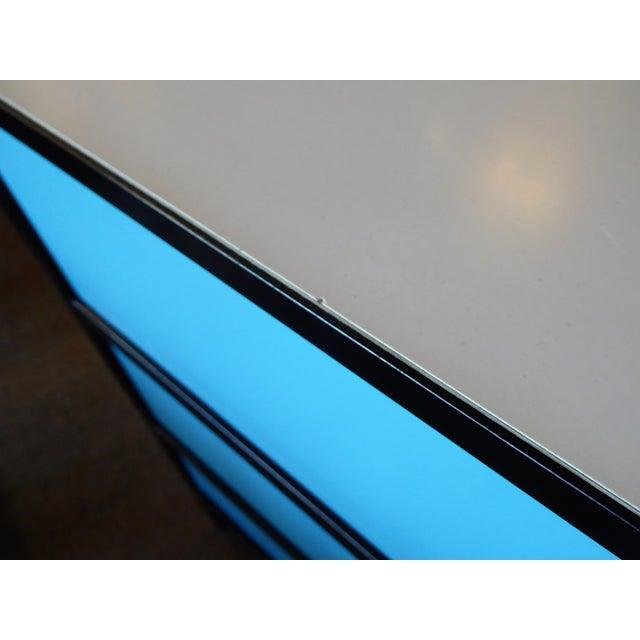 George Nelson Mid-Century Modern Steel Frame Blue and Black Dresser for Herman Miller, 1960s For Sale - Image 11 of 13