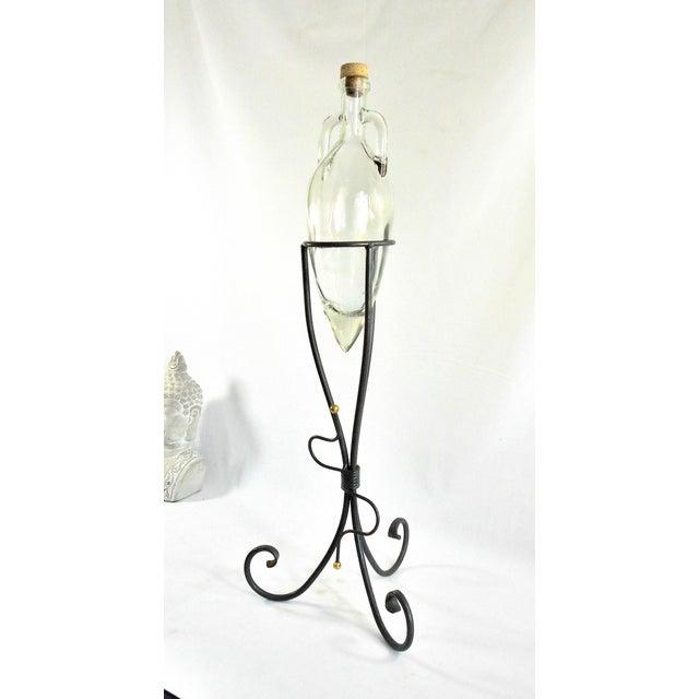 Art Deco 1970s Art Deco Shonfeld's USA Glass Vinegar Bottle For Sale - Image 3 of 11
