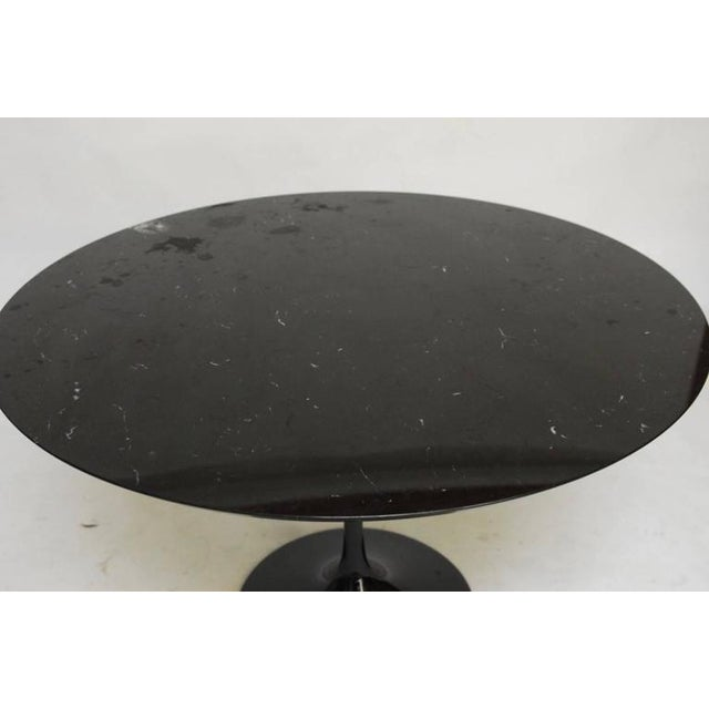 Black Eero Saarinen Style Black Marble Tulip Dining Table For Sale - Image 8 of 10