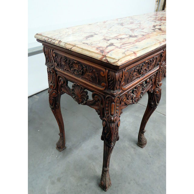 Mid 20th Century Georgian Style Marble Top Sideboard For Sale - Image 5 of 8