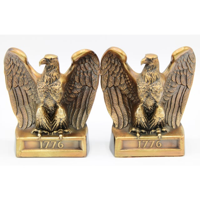 "Vintage ""1776"" American Federal Eagle Bookends For Sale - Image 13 of 13"