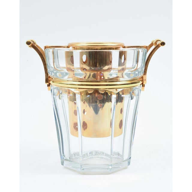 Red Mid-Century Baccarat Crystal Champagne / Wine Cooler Bucket For Sale - Image 8 of 13