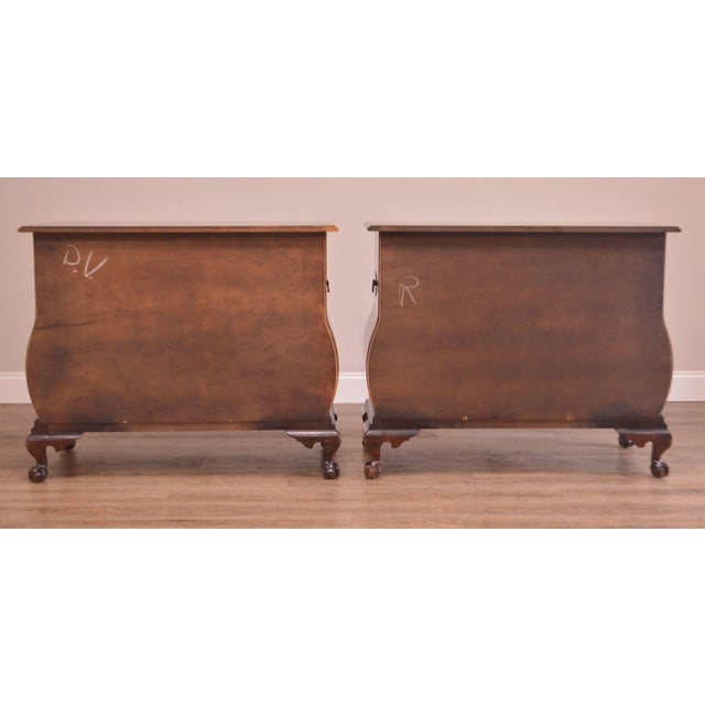 Chippendale Style Kettle Base Pair Mahogany Bombe Claw Foot Chests For Sale In Philadelphia - Image 6 of 12