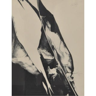 Paul Jenkins (American 1923-2012) Black & White Abstract Lithograph C.1967 Preview