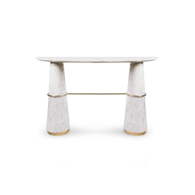 Brass Console Agra From Covet Paris For Sale - Image 7 of 7