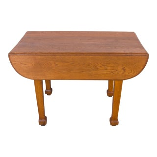 Antique French Farmhouse Oak Drop Leaf Dining Table For Sale