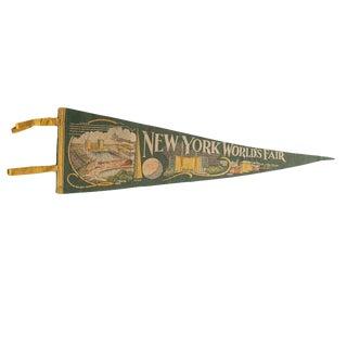 Vintage New York World's Fair Felt Flag Pennant For Sale