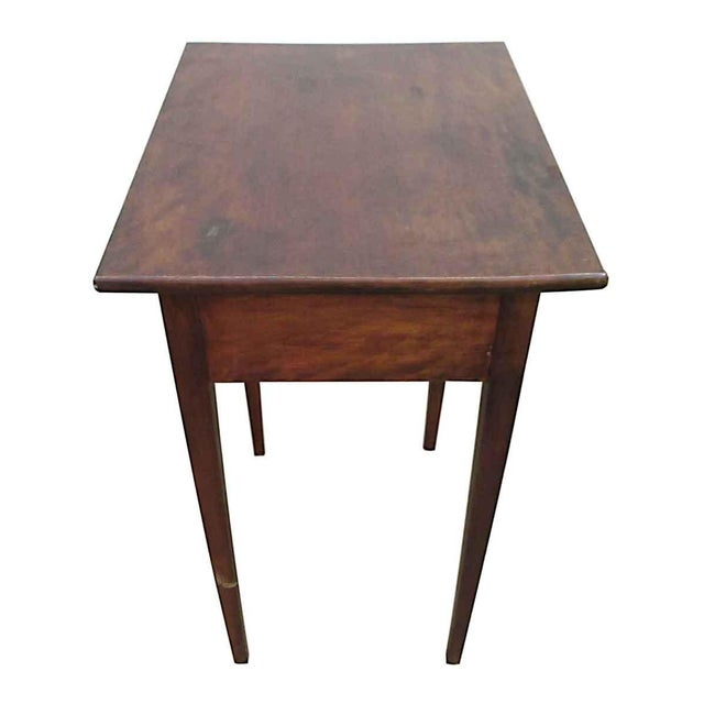 Wood Single Drawer Wooden End Table For Sale - Image 7 of 8