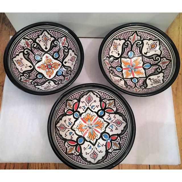 Boho Chic Black Bowls - Set of 3 - Image 5 of 5