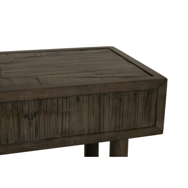 Contemporary Century Furniture Biscayne Console, Mink Grey Finish For Sale - Image 3 of 4