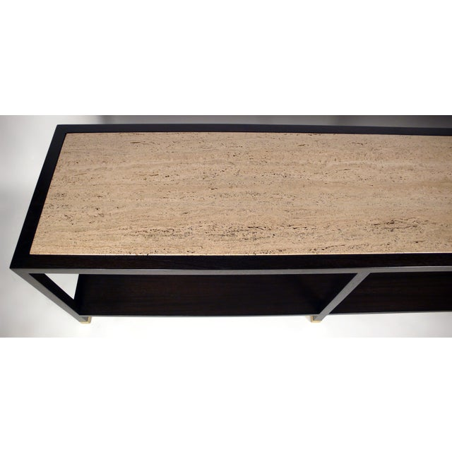 1960s Harvey Probber Travertine Console Table For Sale - Image 5 of 10