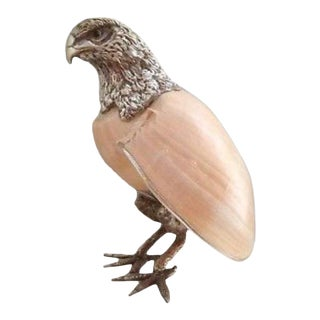 1960s Vintage Binazzi Seashell Bird Sculpture For Sale