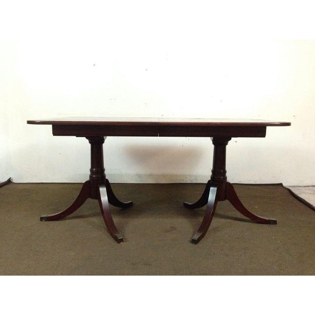 Mahogany Double Pedestal Dining Table - Image 3 of 8