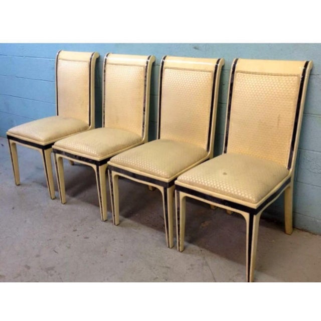 Enrique E. Garcel Columbian Goatskin Chairs - Set of 6 - Image 4 of 6